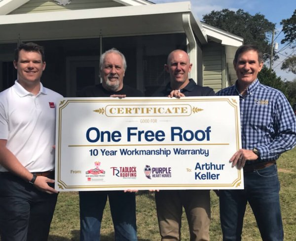 Check for One Free Roof, Tadlock Roofing - Pensacola