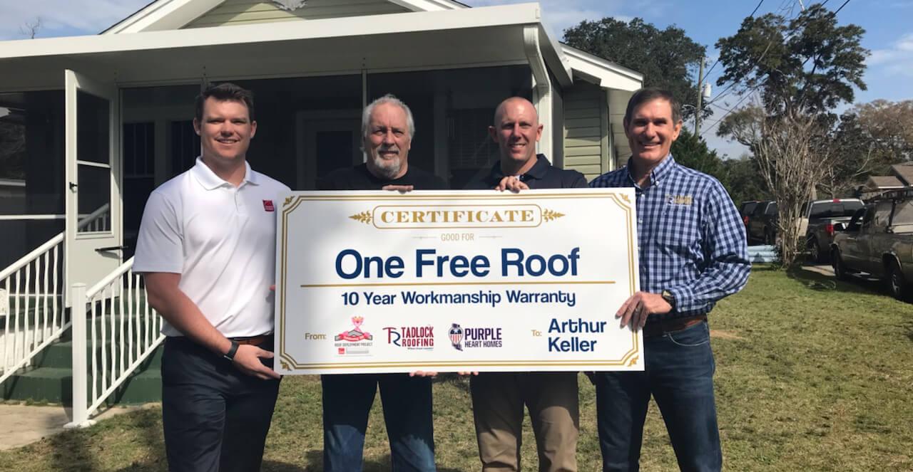 Pensacola Veteran Receives New Roof Installed Tadlock Roofing