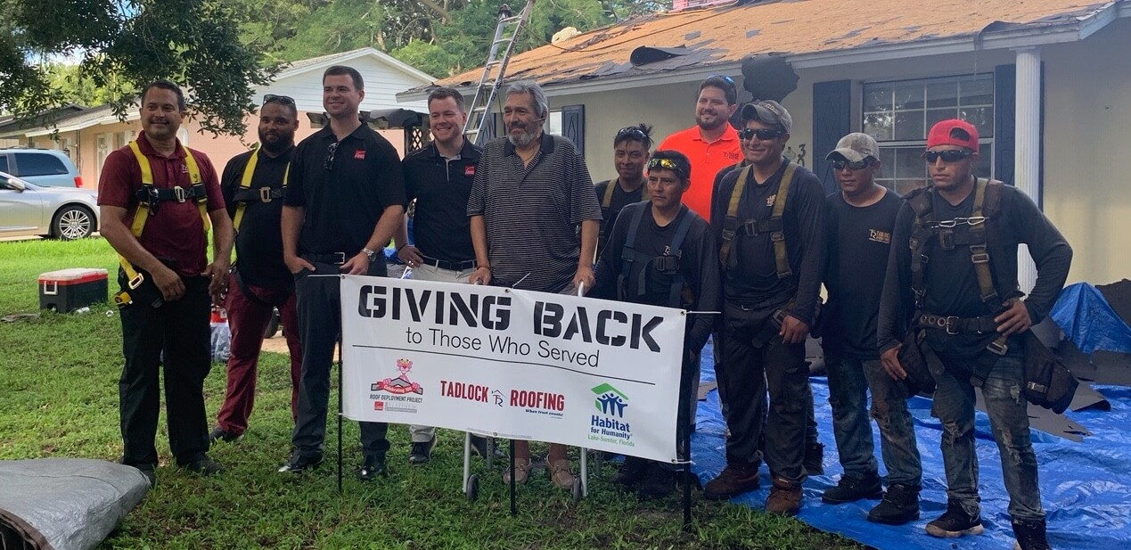 Eustis Veteran Receives New Roof Installed By Tadlock